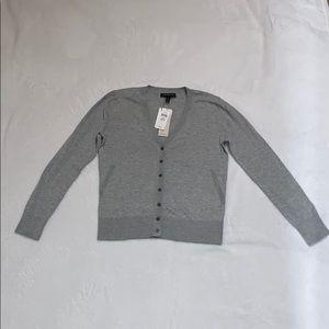 Banana Republic Sweater Grey V-Neck